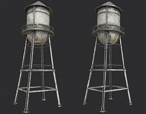 3D model Old Water Tower PBR