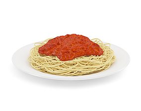 Spaghetti Napoli 3D model meal