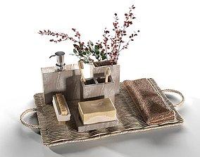 3D model Vintage Bathroom Accessories