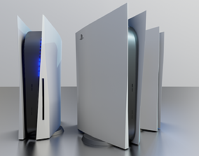 3D model Play Station 5 Low Poly