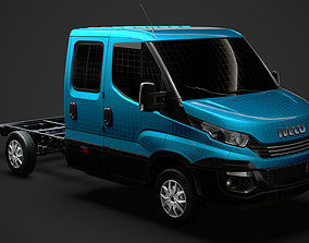 3D Iveco Daily Crew Cab L2 Chassis 2019
