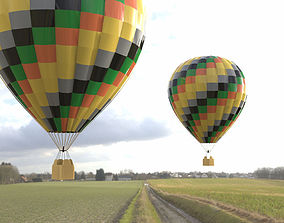 Hot Air Balloon 1 for Poser 3D asset