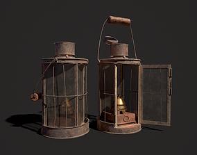 3D model WW1 WWI Trench Light Lantern