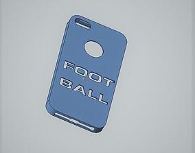 3D print model iPhone 5 case football