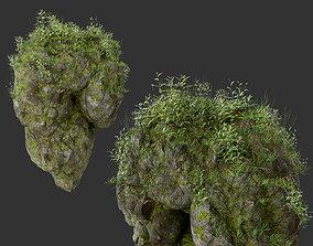 HD Floating Mossy Rock 01 191205 3D