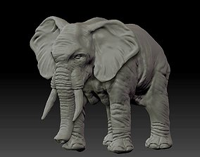 Elephant realistic mammoth African 3D model