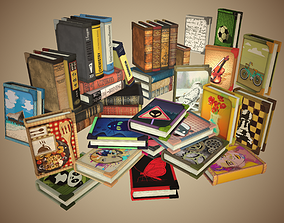 Book in different styles 3D asset