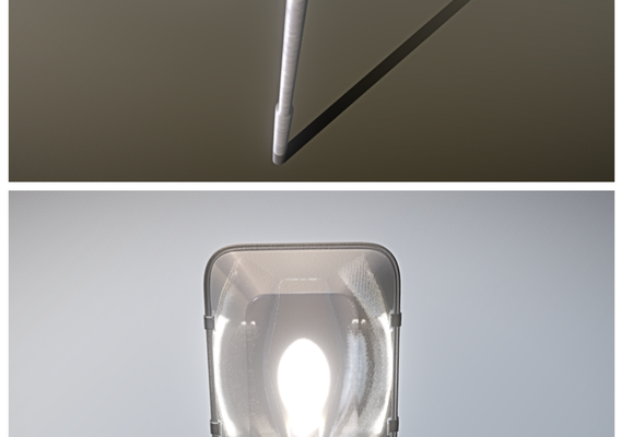 Street Light 3 Low and High-Poly