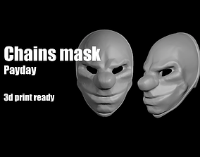 Chains Payday mask helmet 3D printable model
