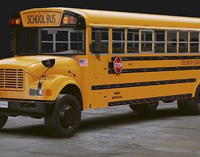 3D asset Realistic School bus