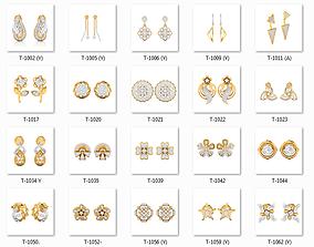 Collection 147 Women Earrings 3dm jcd render details