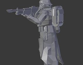 3D print model Army of the trench Advancing infantryman