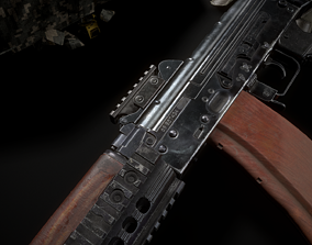 3D asset Ris plank and forearms AKS74U