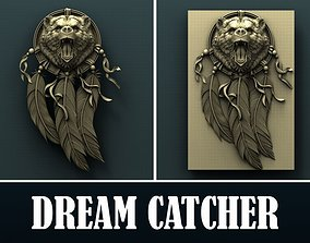 Bear Dream Catcher 3d stl model for cnc