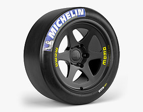 Michelin Slick Momo Combo 3D model low-poly