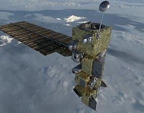 3D model Aqua Satellite