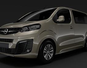 3D model Opel Zafira Life L1 2019