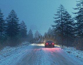 Snowy Road 3D