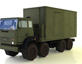 Ural-5323 S-400 Command Center PBU 55K6E 3D asset