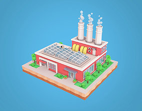 Cartoon Factory Plant 3D model