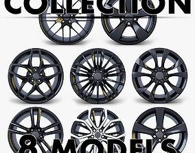 3D model Car Rim Wheel Collection volume 1