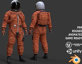 CS02 Male Space Suit LITE VERSION 3D model