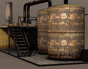 Factory Tanks 3D model
