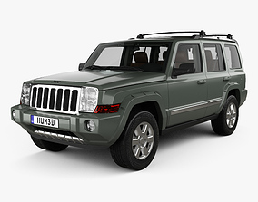Jeep Commander Limited with HQ interior 2006 3D