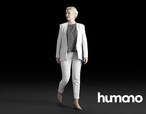 Humano Elegant Woman Walking and looking back 0306 3D