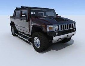 3D Hummer H2 car