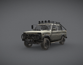 Old Jeep Car Low-Poly Style 3D model