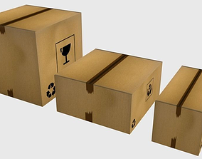 Carboard Box pack 3D asset