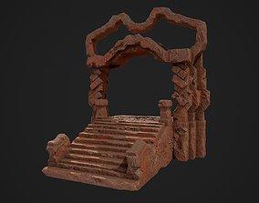 Fantasy red rocky portal environment asset 3D model