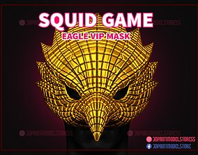 Squid Game Eagle Vip Mask for Cosplay 3D printable model