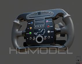 Indy Car Steer Wheel PBR 3D asset