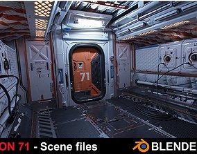 3D Section 71 - Scifi corridor