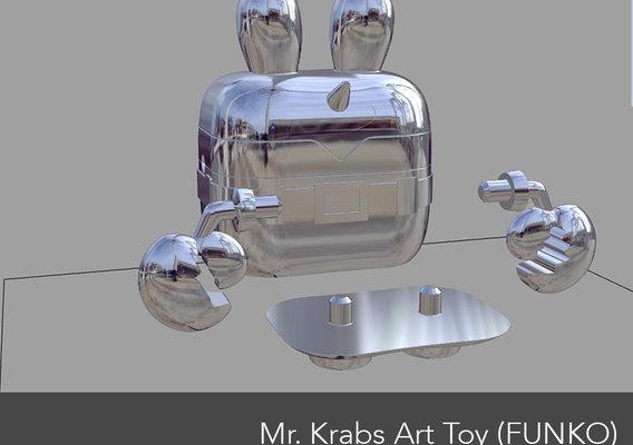 Mr. Krabbs Art toy Funko type