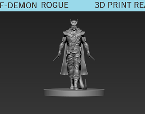 Half-Demon Rogue Miniature 3D print model