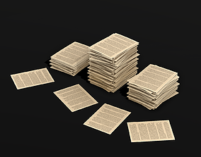 3D model Pile of Paper lowpoly