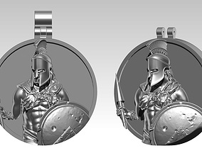 3D print model Sparta Pendant Detailed Realistic Leonid 1
