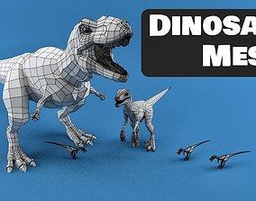 Dinosaur Mesh 3D asset