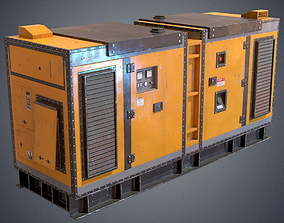 3D model Industrial Power generator
