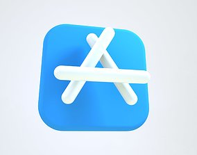App Store 3D Icon rigged