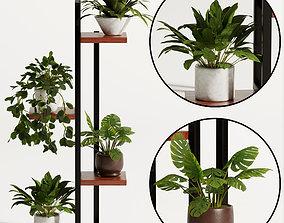 3D model plant stand flower pot