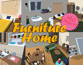 3D asset Home Furniture LowPoly