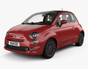 3D Fiat 500 with HQ interior 2015