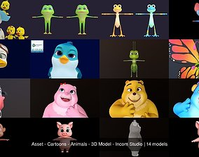 Asset - Cartoons - Animals - 3D Model - Incom