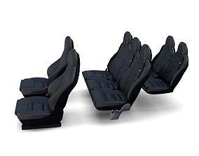 3D Tesla Model X Seats