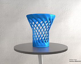 3D printable model Modern Vase Half Cylinder