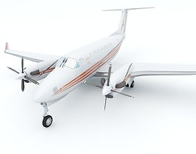 Beechcraft King Air B300 3D asset